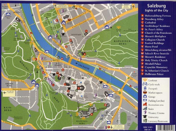 Salzbourg Autriche Carte Ville