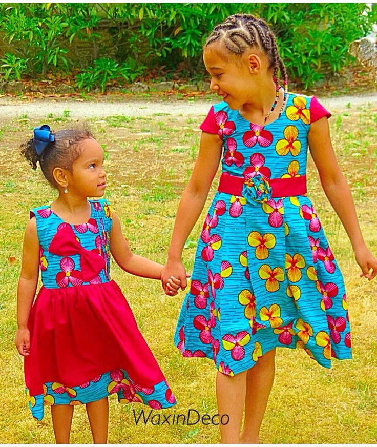 Dress african fabric for little girls by waxindeco robes for Kids dress fabric