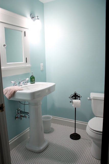 Sherwin williams open air 6491 bathroom redo for Sherwin williams bathroom paint colors