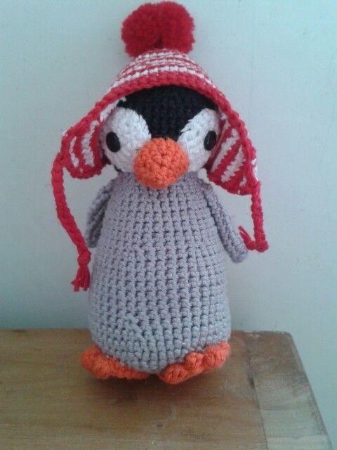 Pinguïn gehaakt
