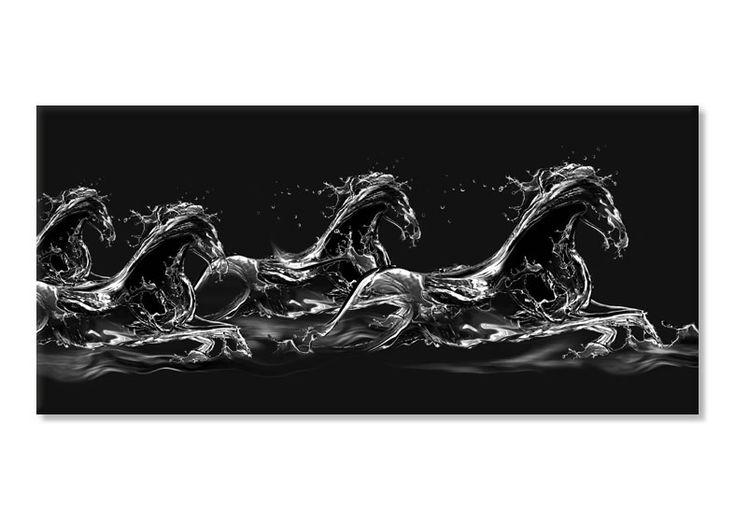 Cai salbatici in apa 17212- Tablouri abstracte- etablou.ro