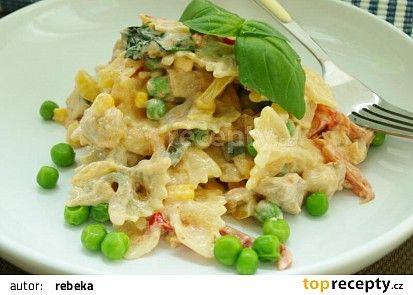 Skvělý těstovinový salát recept - TopRecepty.cz