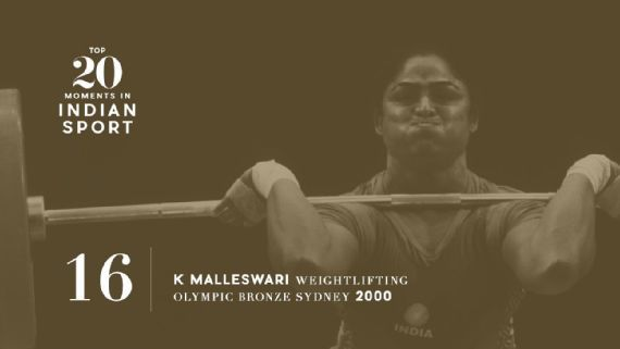 16: Malleswari wins bronze in Sydney - In 2000, the weightlifter became the first Indian woman to win an Olympic medal when she took third place in the 69kg category. Image: Martin Rose/Bongarts/Getty Images   www.piclectica.com #piclectica