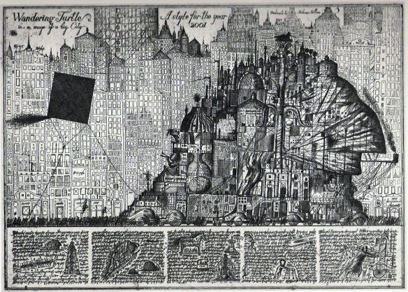 "etchings by the ""paper architects"" Alexander Brodsky"