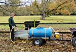 Towable animal water bowser. ATV quad bike tow-able drinking water carts and carriers to fill up water troughs around the farm for your cattle, sheep, horses, alpacas and Llamas. For more info: http://www.fresh-group.com/drinking-carts.html