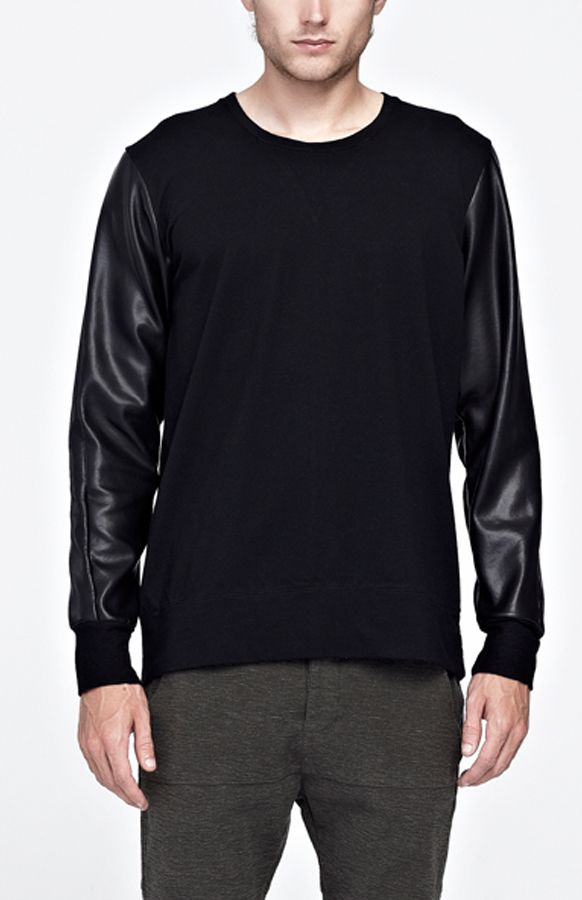 Commoners Black on Black Crew Neck Jumper $145 available at http://www.needlesandthreads.co.nz/estore/style/com0095.aspx?c=1