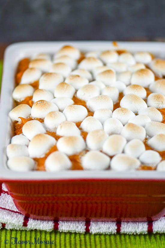 Sweet Potato Casserole with Marshmallows ~ http://FlavorMosaic.com