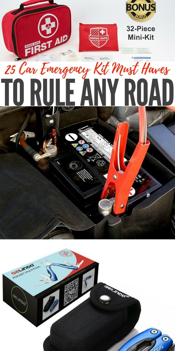 25 Car Emergency Kit Must Haves to Rule Any Road — Most of us believe it or not do not have any kind of kit for emergencies in our car. I think the statistics is like 7% of Americans have an emergency kit for that just in case moment