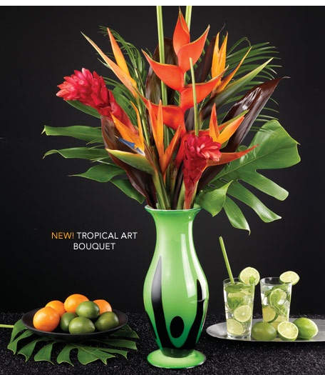 Tropical Art Bouquet by Calyx Flowers - Our magnificent tropical design stands nearly 3 feet tall. #flowers