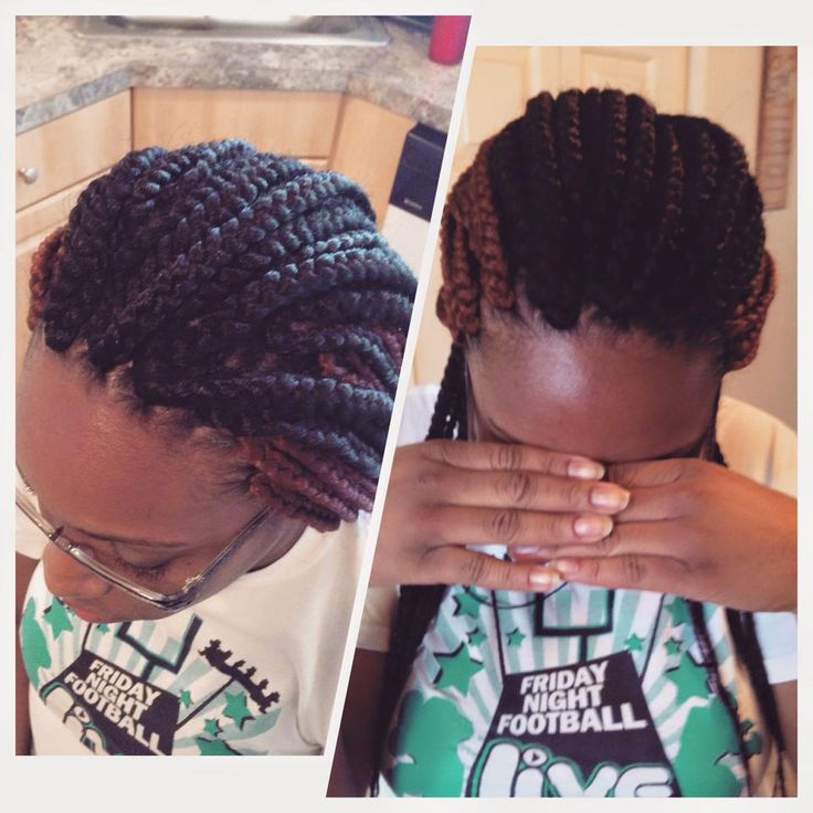 Crocheted box braids.. Cant even tell theyre crocheted...