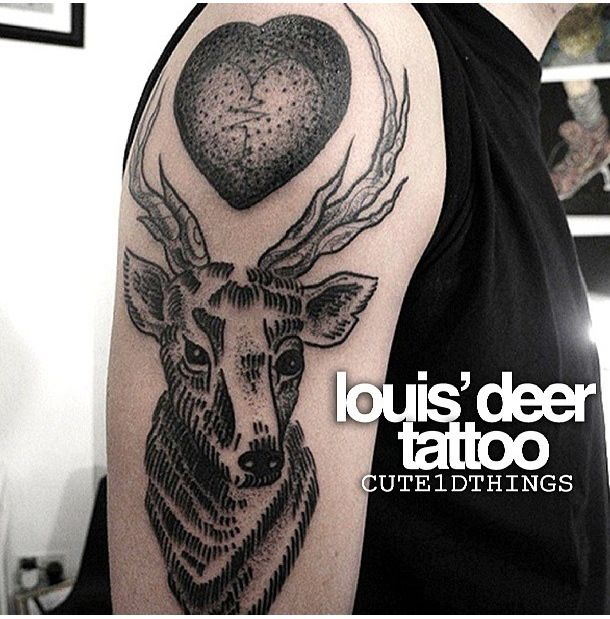 Louis 39 deer tattoo cute1dthings pinterest deer for One direction louis tattoo