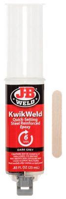 J-B Weld KwikWeld Quick-Setting Steel Reinforced Epoxy Syringe