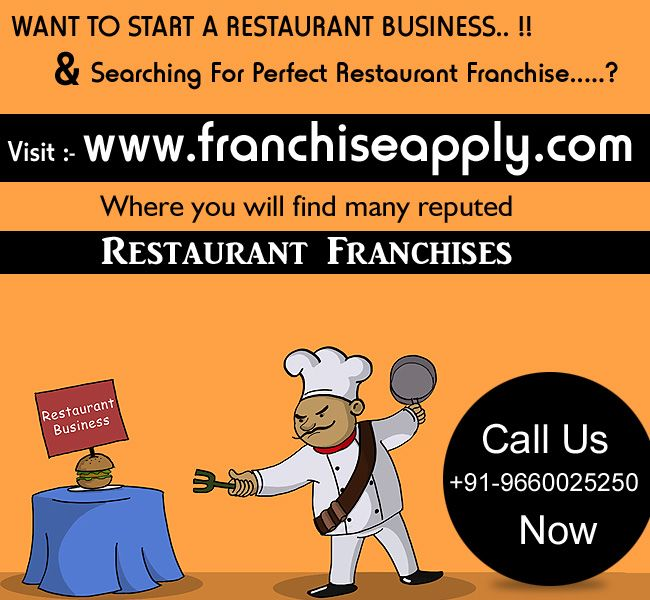 Searching For Restaurant Franchise In India