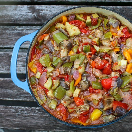 Ratatouille is the perfect late summer dish when your gardens (or market) is brimming with eggplant, tomato, and zucchini. Vegan. GF. Yum!