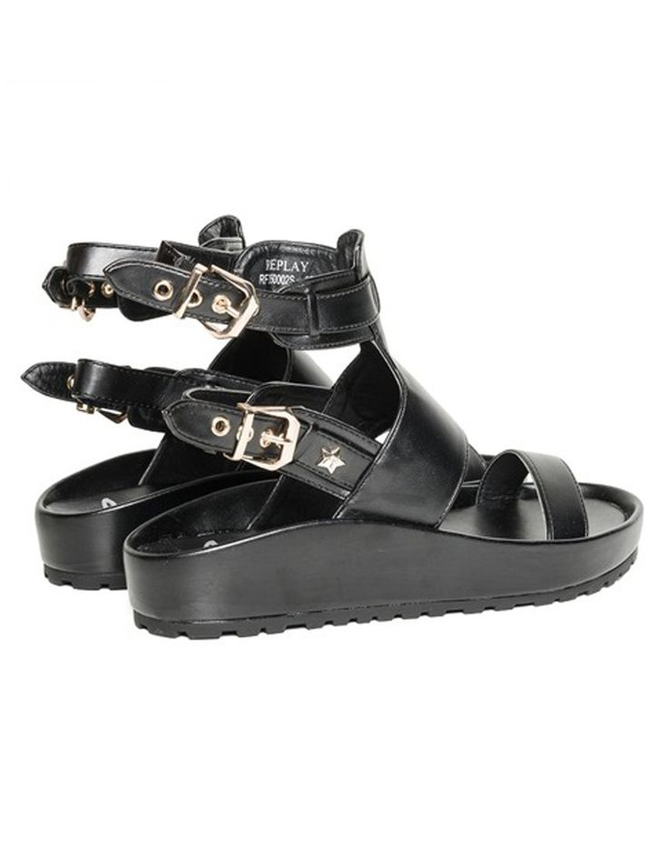 Replay Black Postar Shoes | Accent Clothing