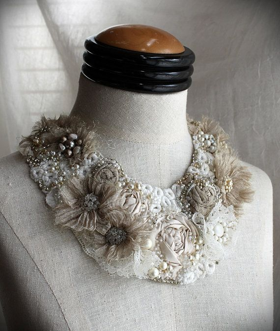 Hey, I found this really awesome Etsy listing at https://www.etsy.com/listing/227457087/fiona-bridal-collar-mixed-media-textile