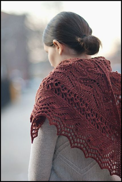 A Winter Juneberry by brooklyntweed: Brooklyn Tweed, Jared Flood, Knits Crochet, Lace Shawl, Shawl Patterns, Knits Shawl, Winter Juneberri, Triangles Patterns, Juneberri Triangles