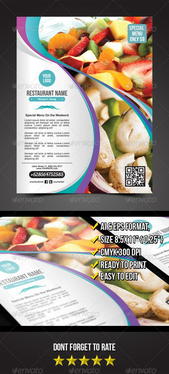 Restaurant Flyer - graphicriver sale