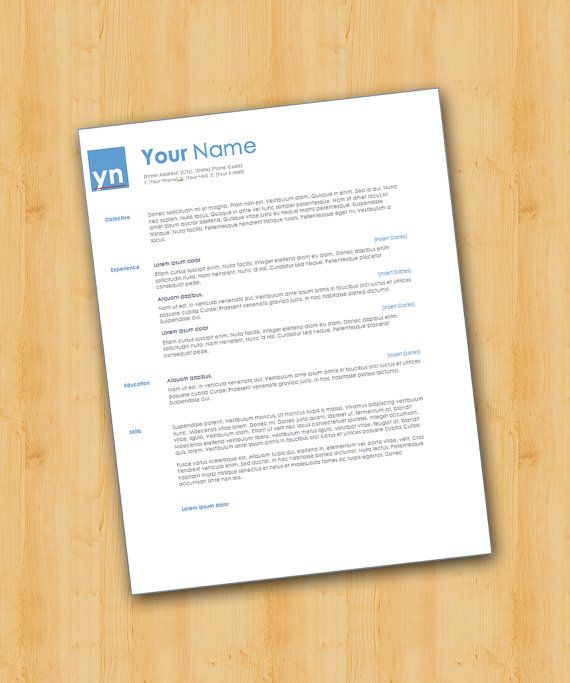 42 best Our Resume Templates images on Pinterest Resume - how to format a resume on microsoft word