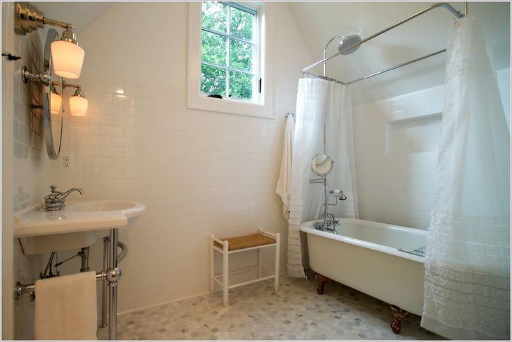 41 best images about bathroom ideas on pinterest small for Sloped ceiling bathroom ideas