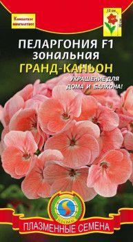 Пеларгония зональная Гранд-Каньон F1 3 шт персиковые (Плазменные семена)