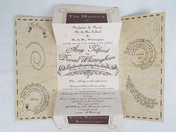 handmade harry potter wedding invitations