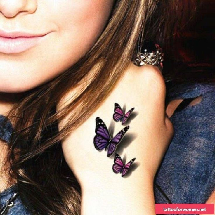 3D Tattoo: realistic tattoo ideas for women and men | 3D Tattoos Frau Schmetterl…