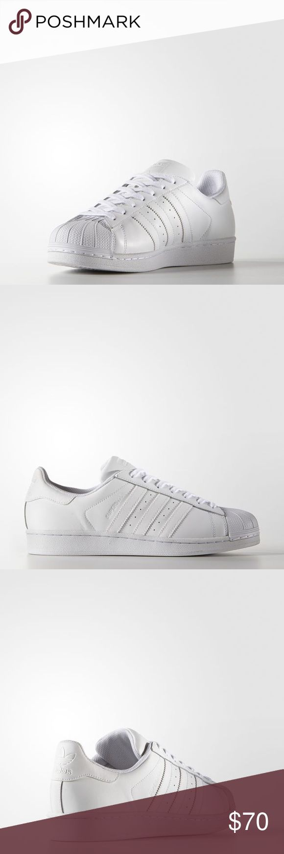 Adidas Superstar all white sneakers New, unworn and still in the box Adidas Shoes Sneakers