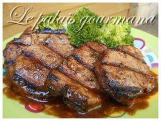 Le palais gourmand: Médaillons de porc teriyaki