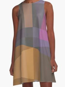 A-Line Dress for women Woven fabric made from 100 % polyester with a silky surface. Printed on the entire front and back Loose , swinging form , so it falls nicely Sublimation for vivid colors Completely assembled in the USA and printed  #dress #women #fashion #a-line #pastel #kleider #frauen