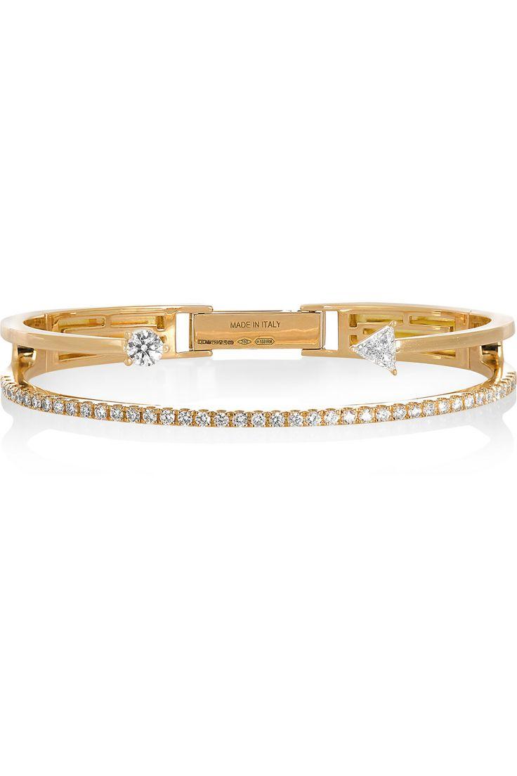 Delfina Delettrez|18-karat gold diamond bracelet|NET-A-PORTER.COM