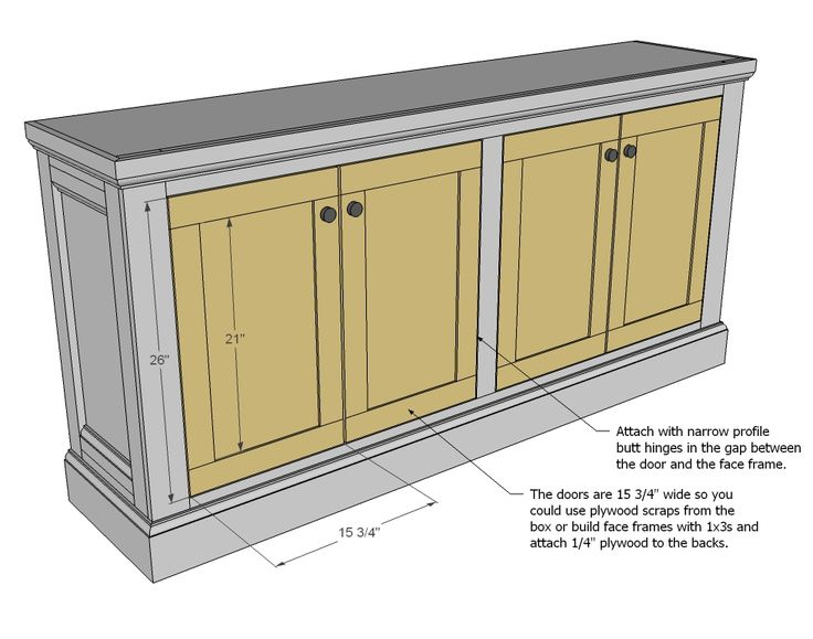 DIY Projects Shanty Sideboard Woodworking Plans By Ana White