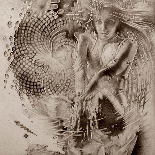 """#Visionary #surrealism #art """"Величайшее несчастье быть счастливым в прошлом"""""""