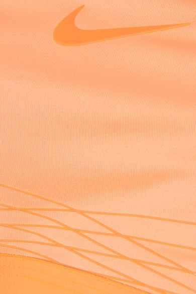 Nike - Pro Hyper Mesh-trimmed Dri-fit Stretch-jersey Sports Bra - Orange - x large
