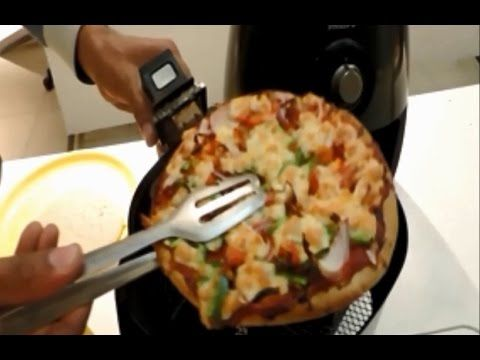 Bake a Pizza at home with the New Philips Airfryer. It is safe, easy to use and the results are just perfect... Try it out today. You can buy an Airfryer onl...