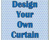 Concevez votre propre personnalisé douche rideau avec votre nom, les couleurs ou les MONOGRAM. Dessins personnalisés pris prendre soin de votre Style.