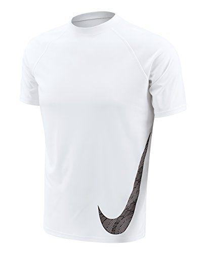Nike Men's Heat Swoosh Short Sleeve Hydro Rash Guard XL W... https: