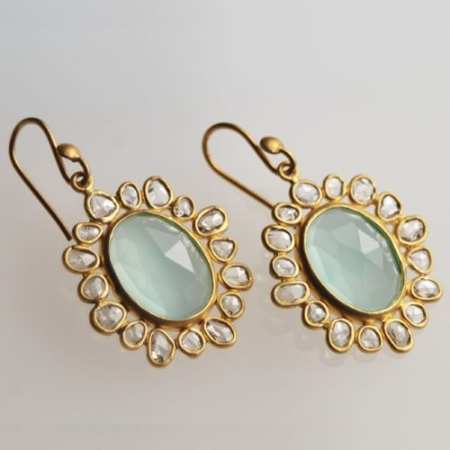 chalcedony and diamonds!: Harper Gold, Fashion, Diamonds, Baubles, Jewelry, Chalcedony Earrings, Jewels