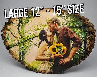 GRANDE Photo de bois sur mesure, 5ème cadeau d'anniversaire, cadeau d'anniversaire, photo de mariage en bois, cadeau anniversaire bois, 5 ans, personnalisé