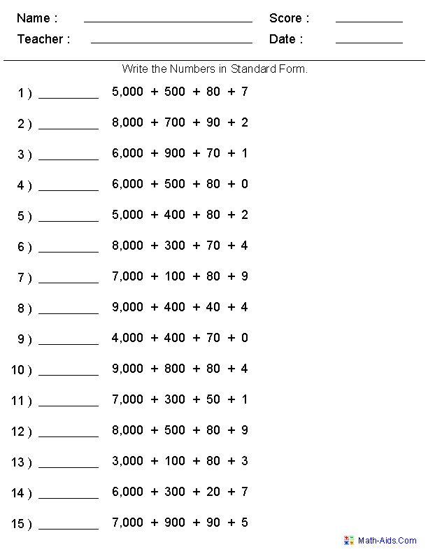Best Place Value Worksheet Images On   Place Values
