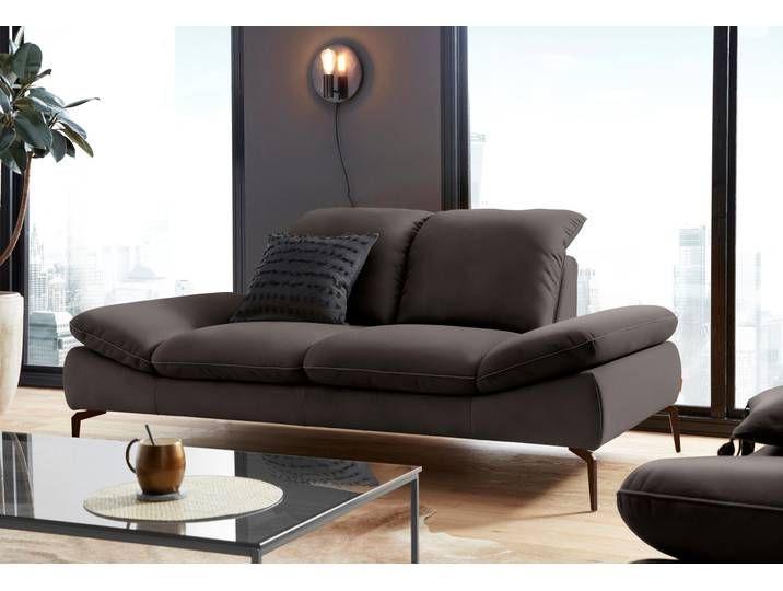 W Schillig 2 Sitzer Sofa Enjoy More Braun B H T 202x45x54cm Mit Sitztiefenvers Schlafsofa Mit Matratze Schlafsofa Leder Sofa Mit Schlaffunktion