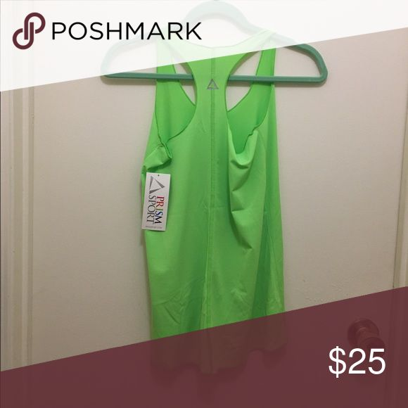Prismsport activewear tank top Neon green tank top. Can be worn at the gym or part of an outfit. Thin and loose fitting Prismsport Tops Tank Tops