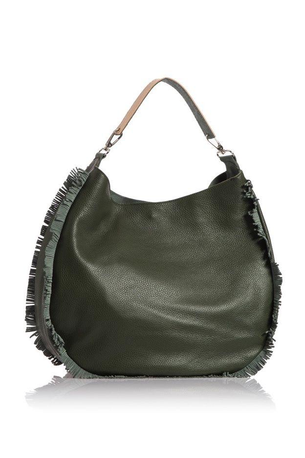 Luna shoulder bag green Walking Stick collection by HappyM