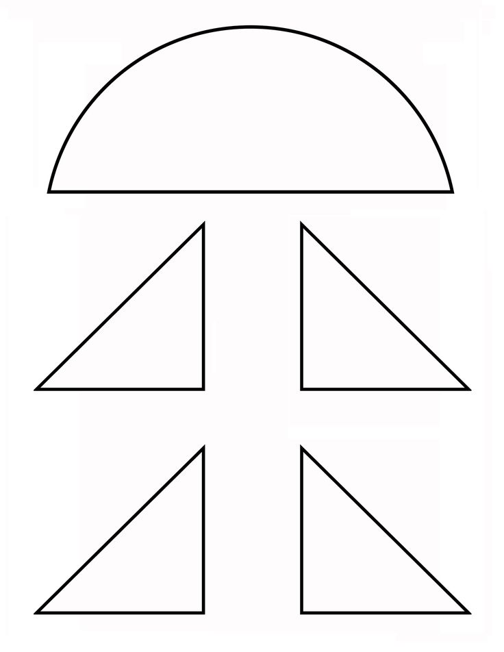 Printable template for Rocket Bank cone and fins. Use this