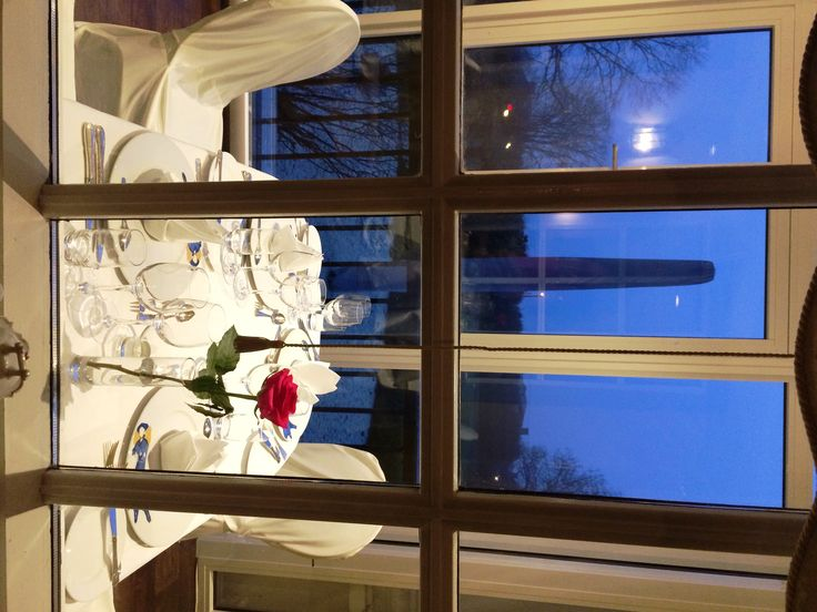Our glass-balcony in the restaurant with a lovely view