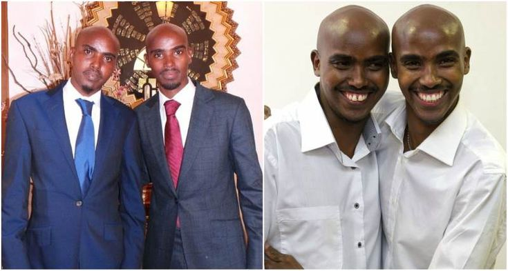 Mo Farah with twin brother Hassan