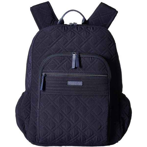 Vera Bradley Campus Tech Backpack (Classic Navy) Backpack Bags ( 138) ❤  liked on Polyvore featuring bags, backpacks, blue backpack, zipper bag, blu… 821b782342
