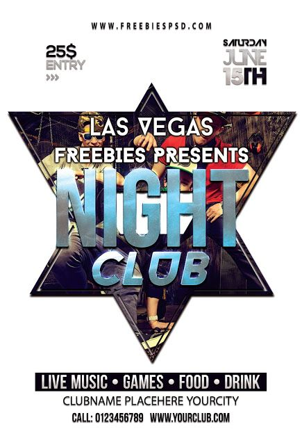 Free Night Club Party Flyer