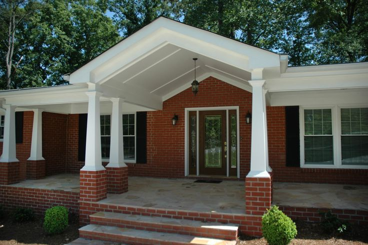 21 best images about front porches on a budget on pinterest for Front porch designs for ranch style homes