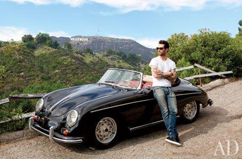 Adam Levine's Hollywood Hills Home + Vintage Porsche